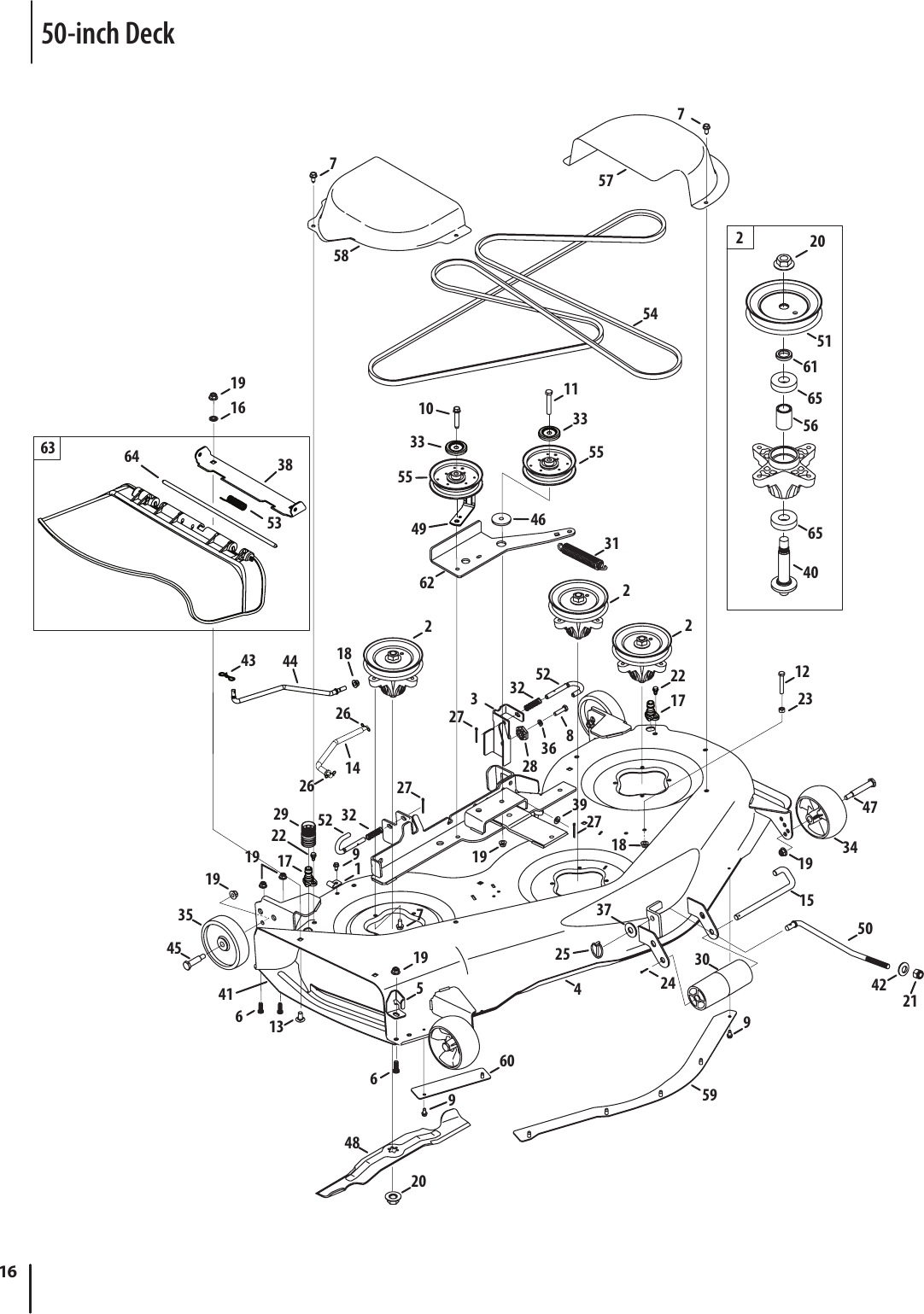 Cub Cadet Ltx 1050 Deck Diagram