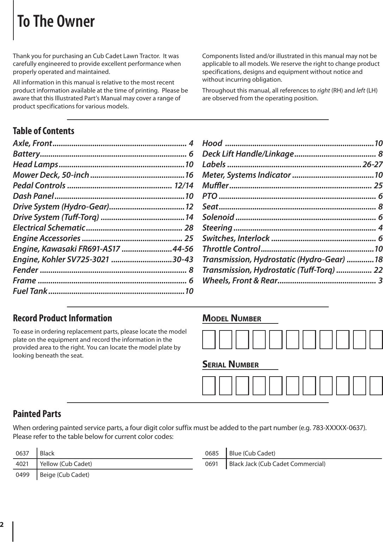 Cub Cadet Ltx1050 Kw Users Manual