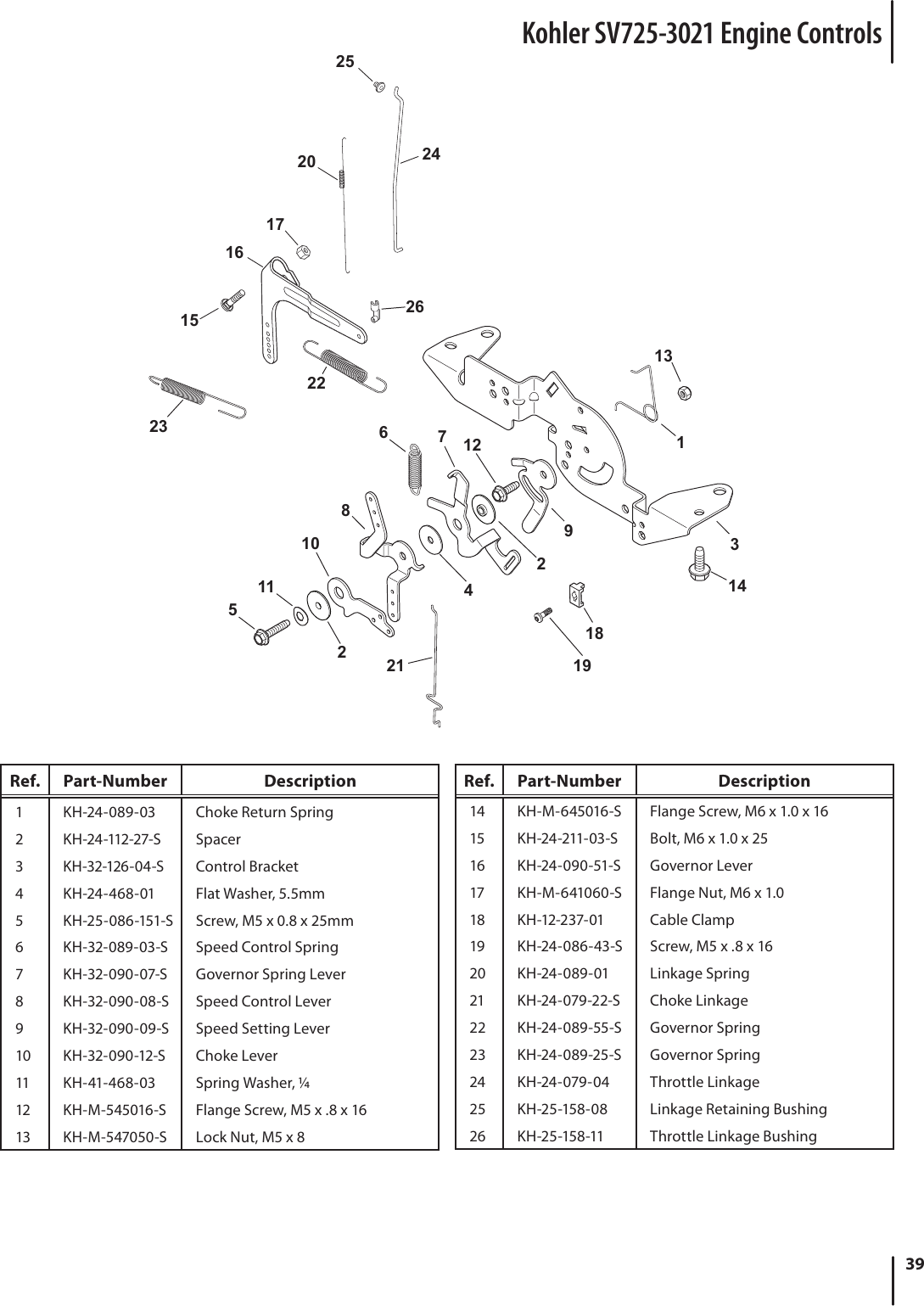 Kohler Courage 20 Throttle Linkage Diagram
