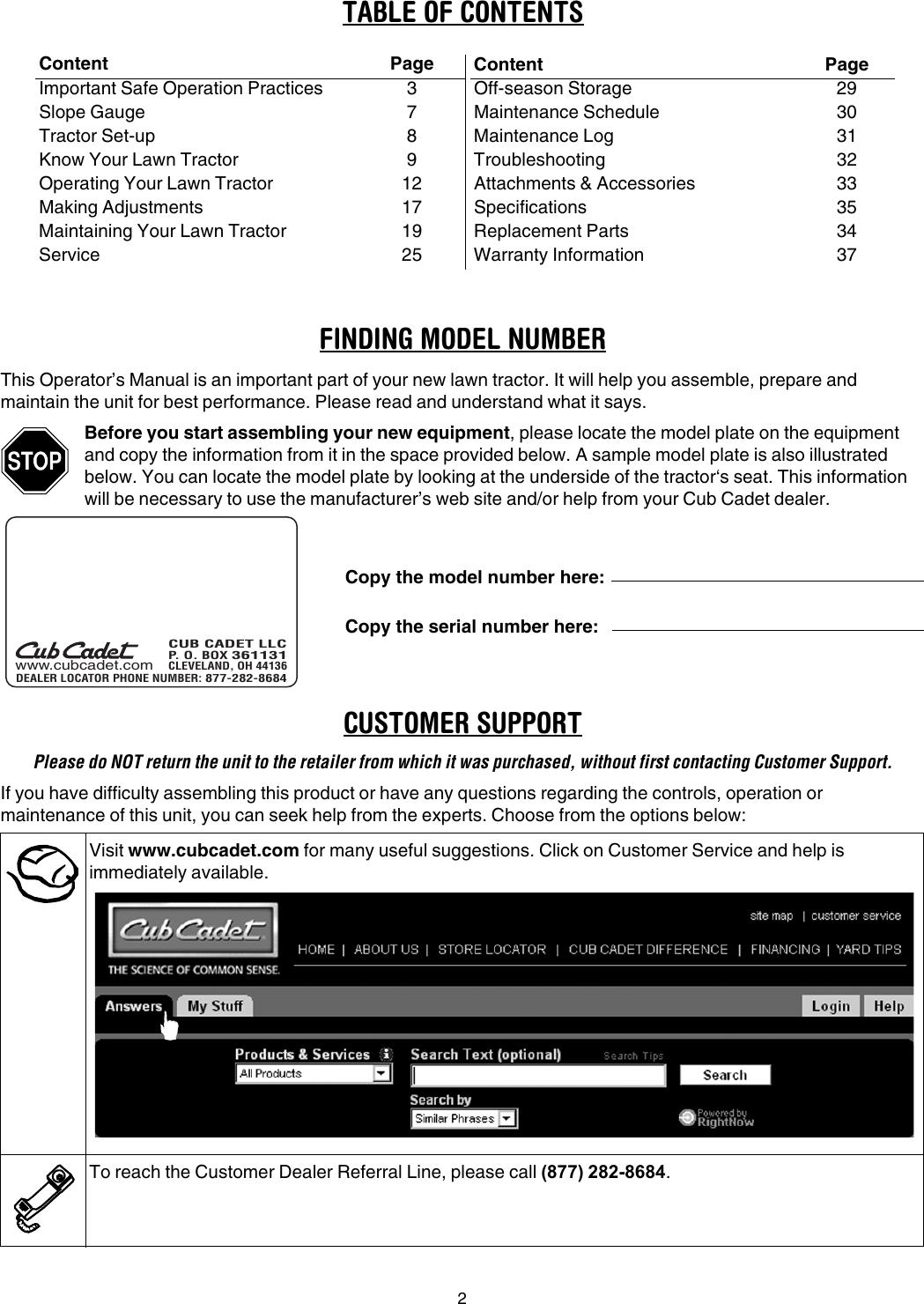 Cub Cadet Slt1550 Slt1554 Operators Manual 769 01651C
