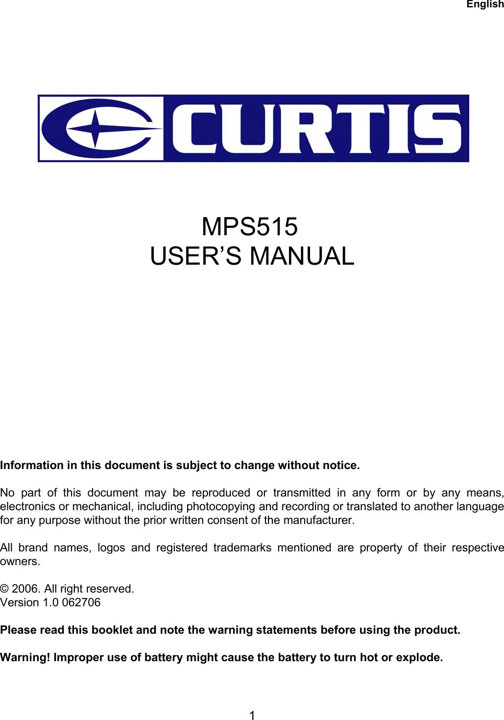 CURTIS MPS515 WINDOWS 7 64BIT DRIVER