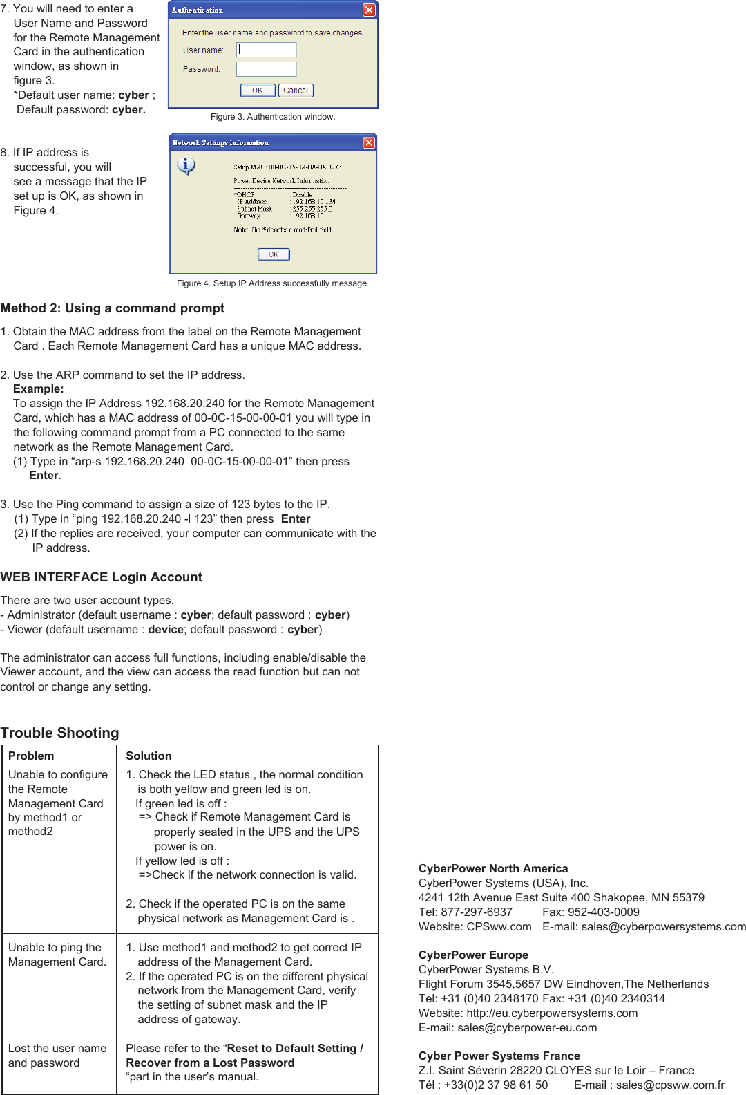 Cyberpower Rmcard202 Users Manual A