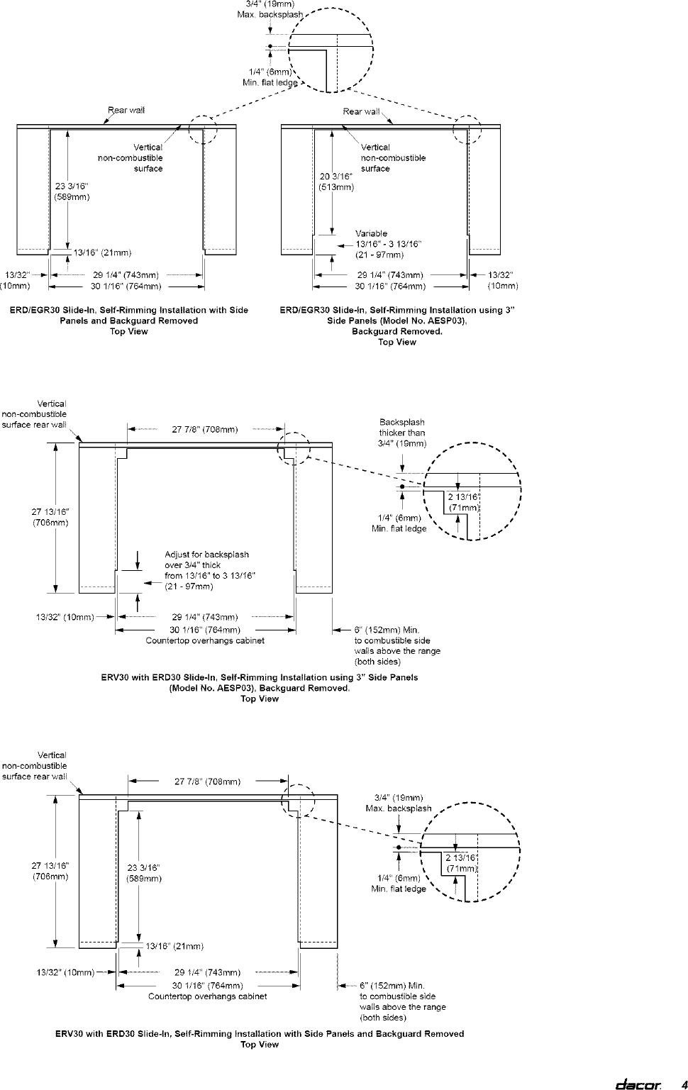 Dacor In Range Electric Gas Manual L0520330