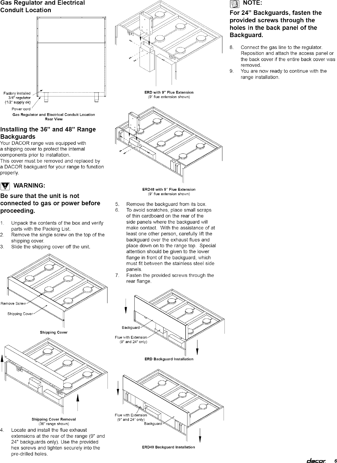 Dacor In Range Electric Gas Manual L0520330 Wiring Diagram Page 7 Of 12