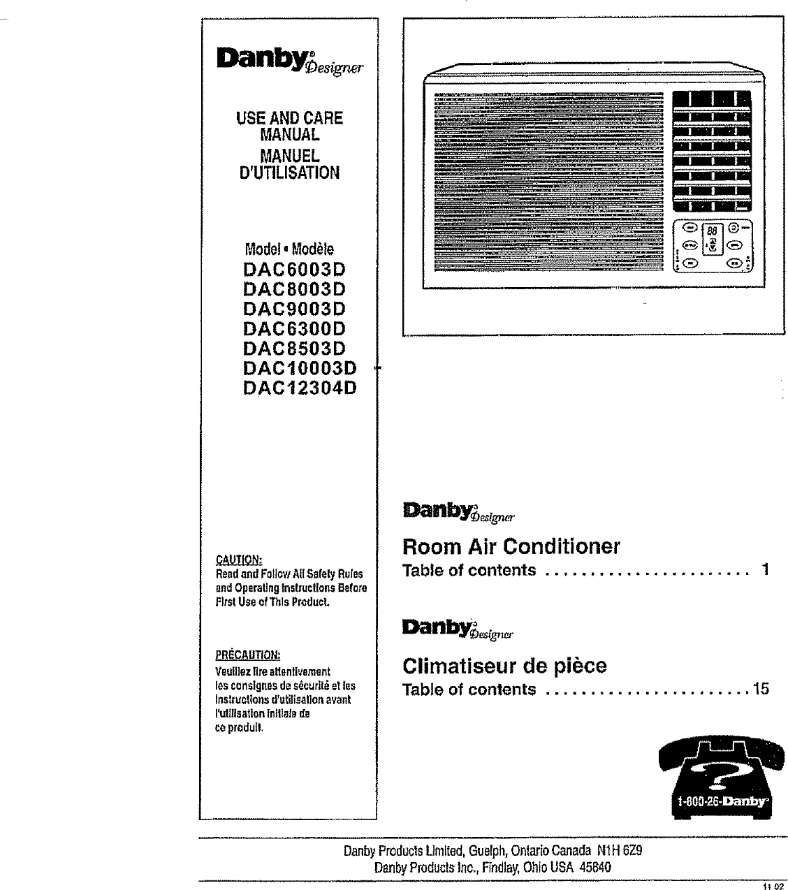 Danby room Air Conditioner Owner S Manual