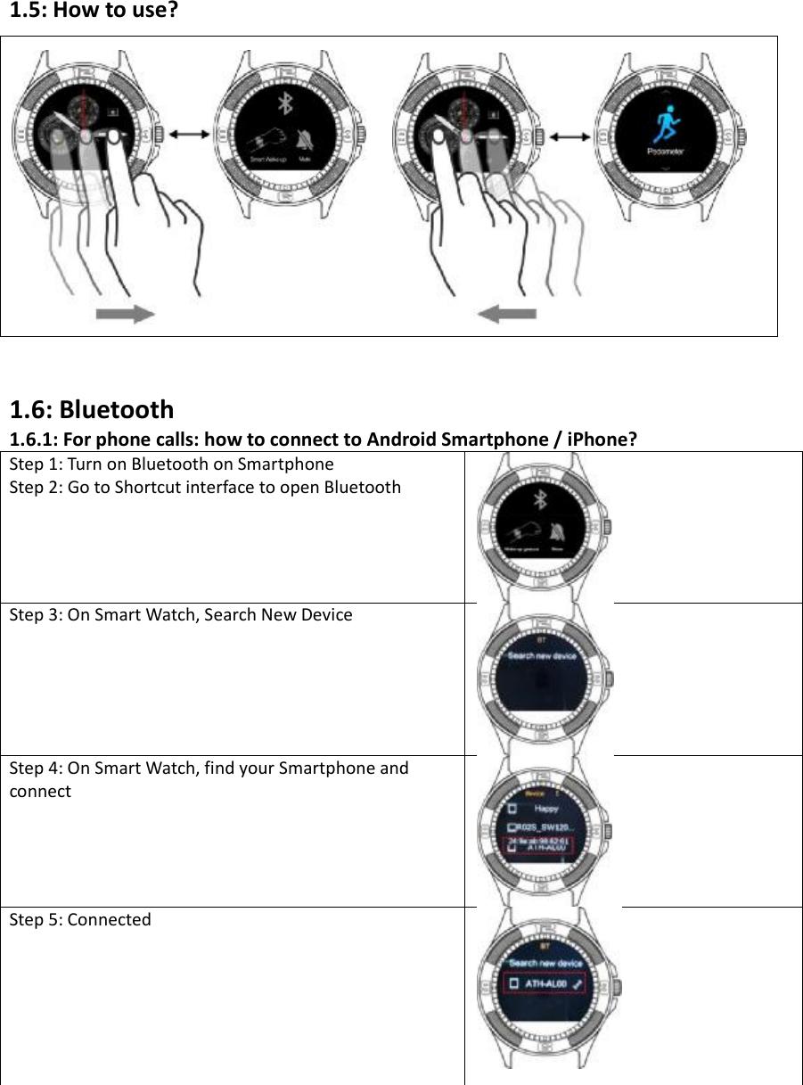 DASQ Electronics SMARTWATCH Smart Watch User Manual