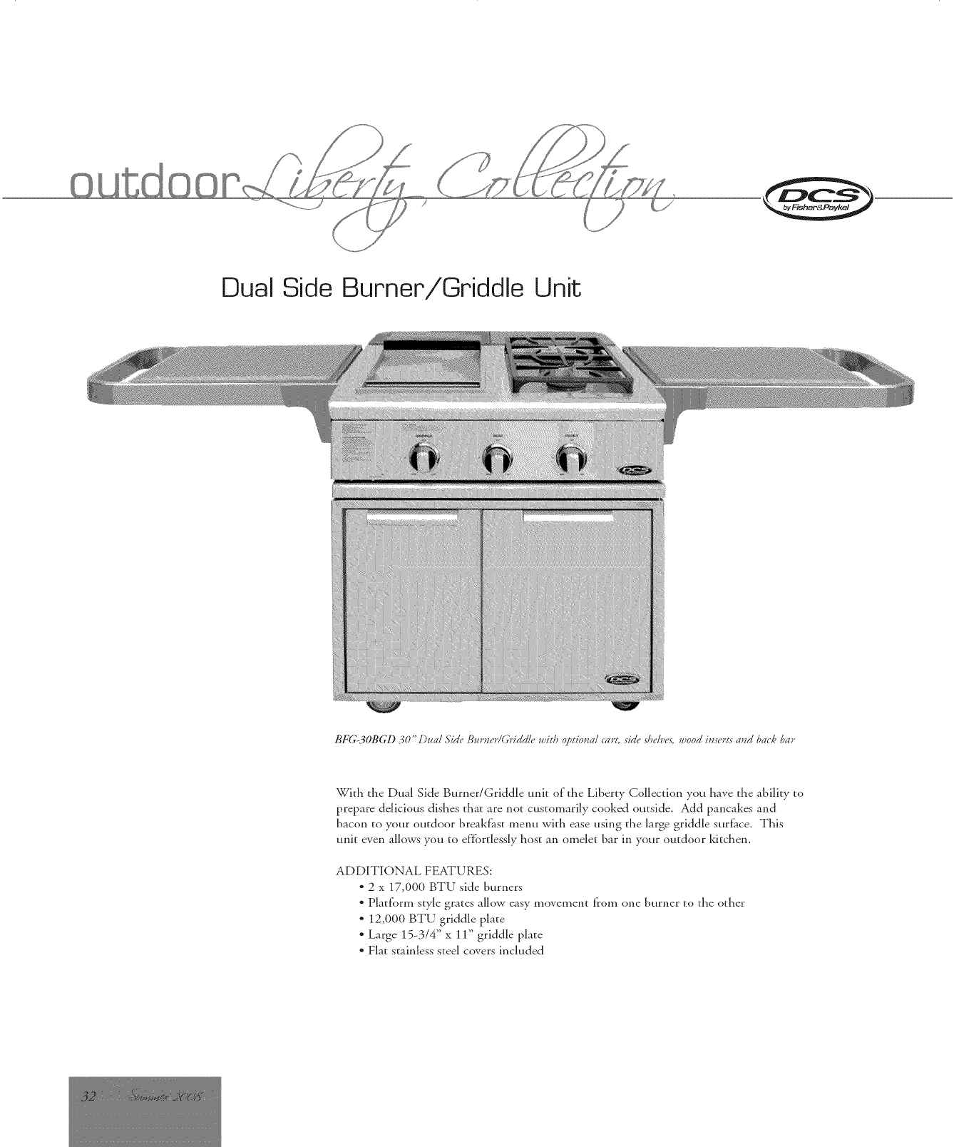 DCS (DYNAMIC COOKING SYSTEMS) Grill, Gas Manual L1002498