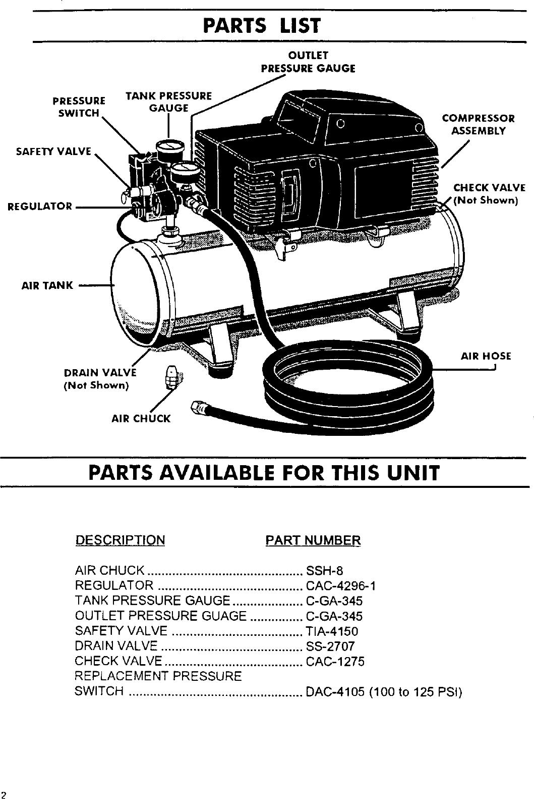 DEVILBISS Air Compressor Manual L0304229
