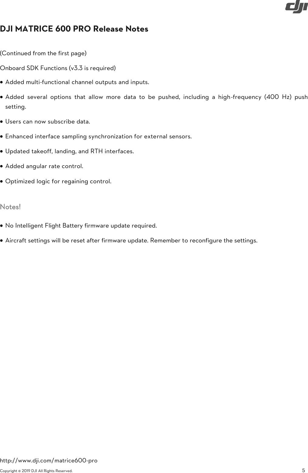 DJI Matrice 600 Pro Specs, FAQ, Tutorials And S User Manual M600