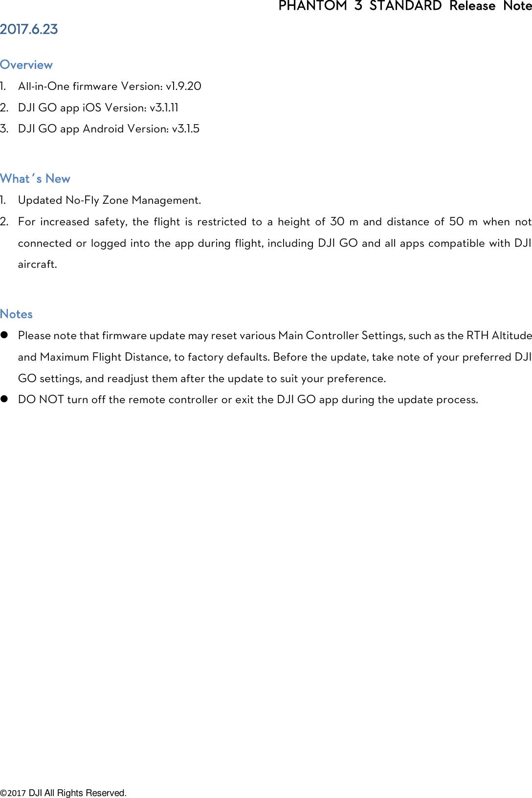 DJI Phantom 3 Standard Specs, FAQ, Manual, Video Tutorials