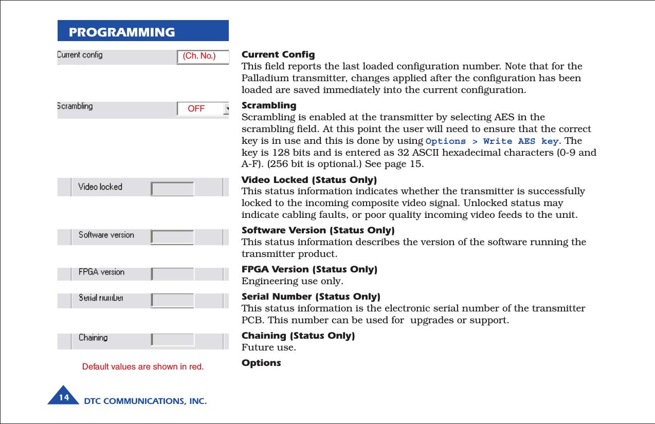 wylot odebrać Hurt DTC Communications PDTX100SBW Digital Video Transmitter User ...
