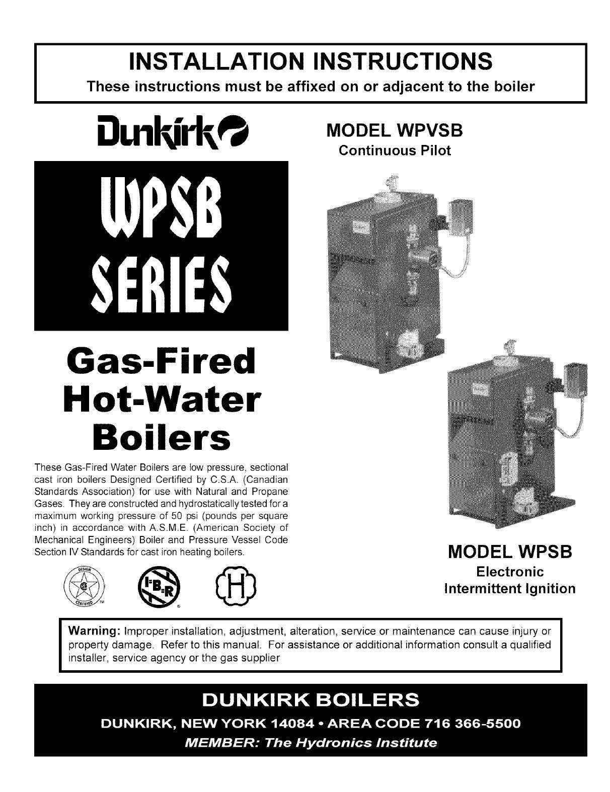 Dunkirk Boiler Manual L0612085 Wiring Diagram