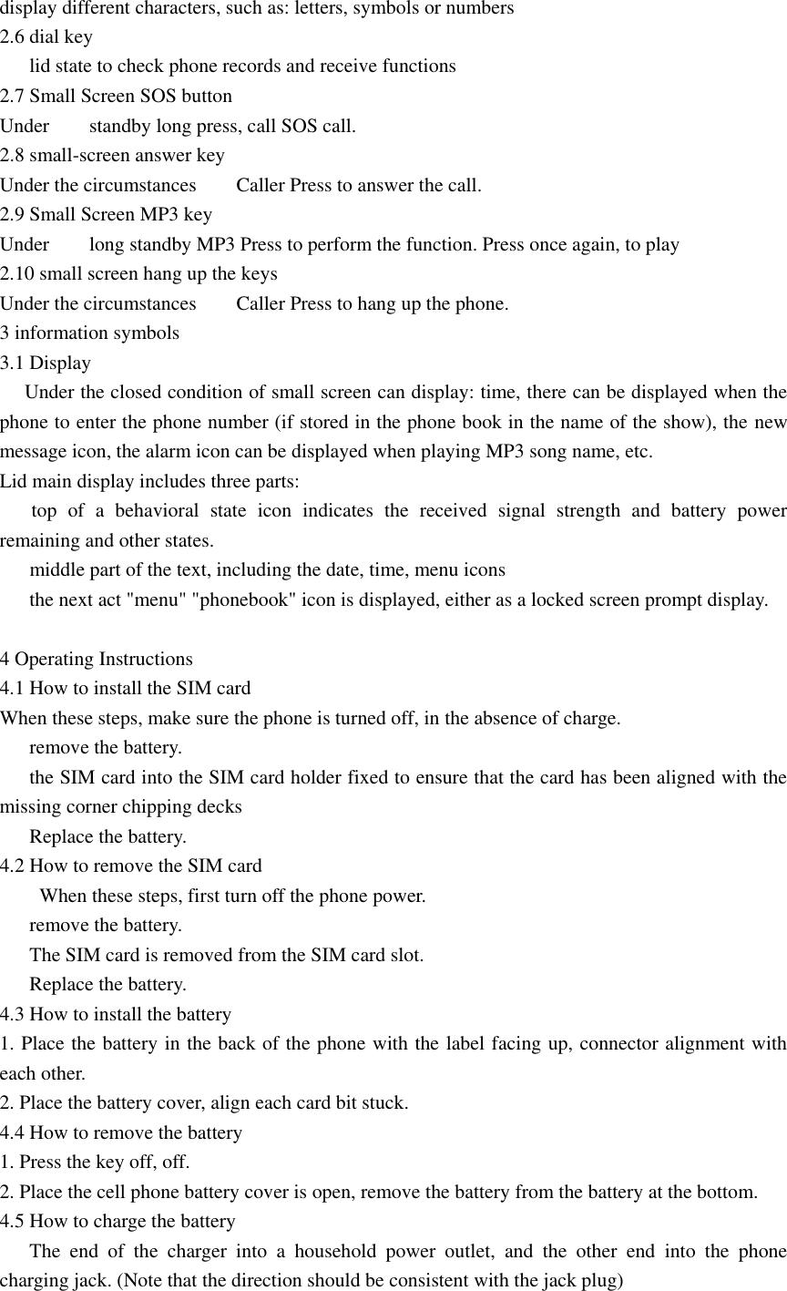 Dano Mobile Com I Flip Old Man Phone User Manual I Manual Book
