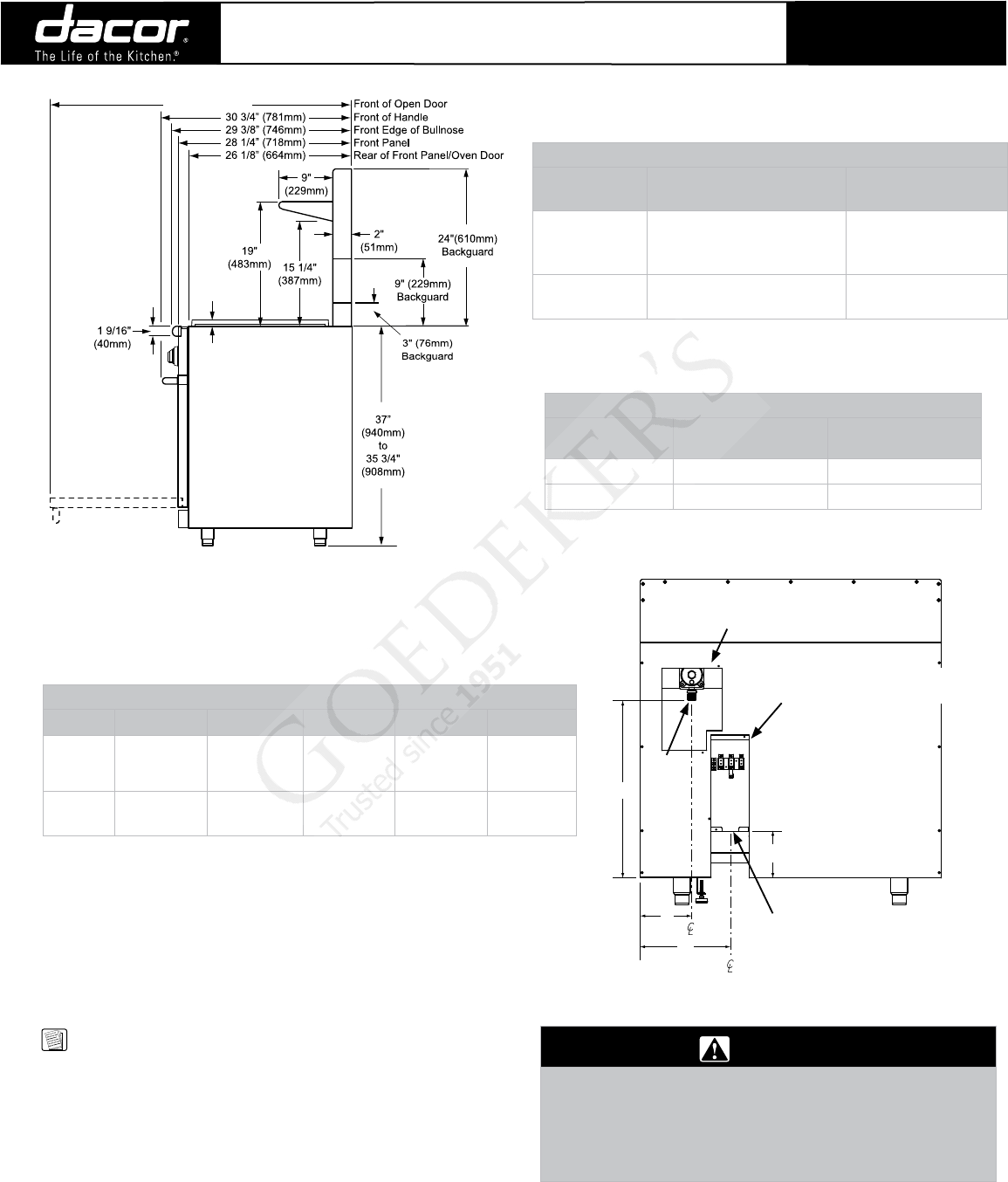 Dacor Cooktop Er48d Users Manual Range Wiring Diagram