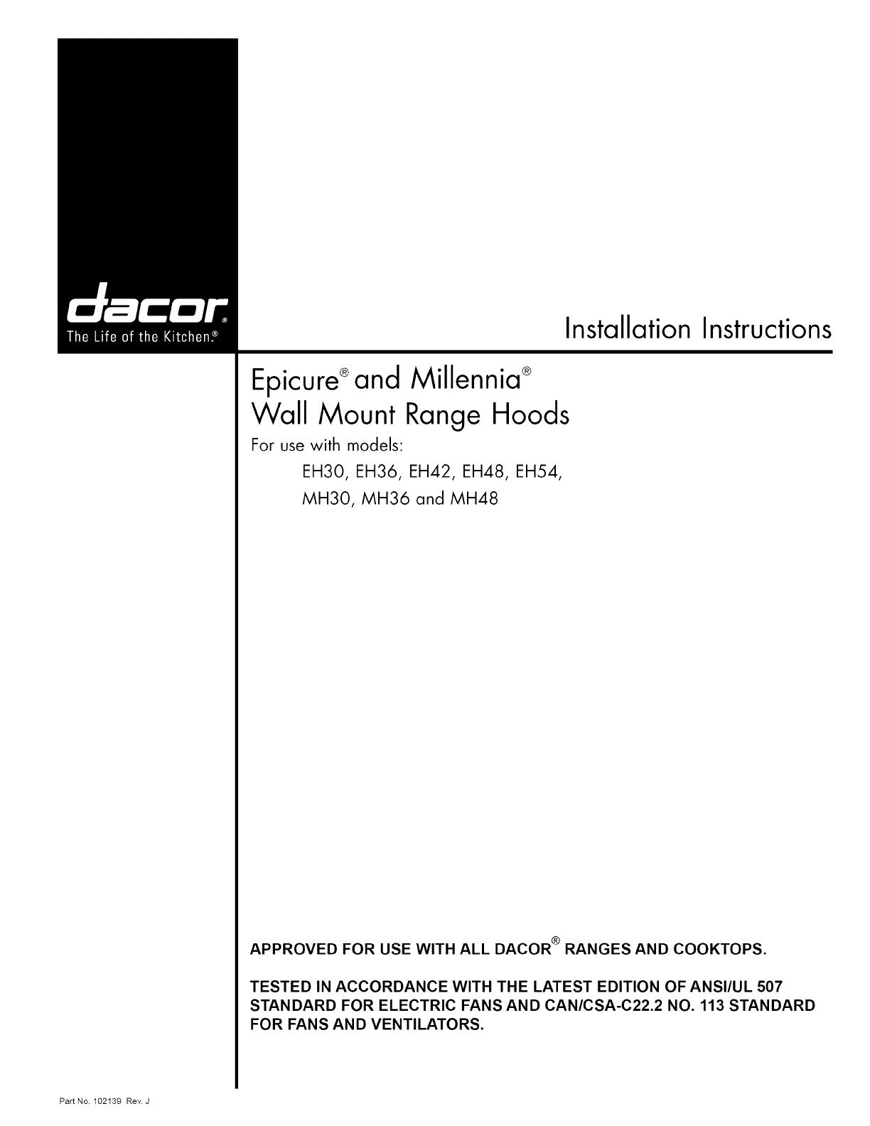 dacor eh3618sch user manual range hood manuals and guides 1102319l rh usermanual wiki Dacor Range Hood Filters Dacor Kitchen Hood