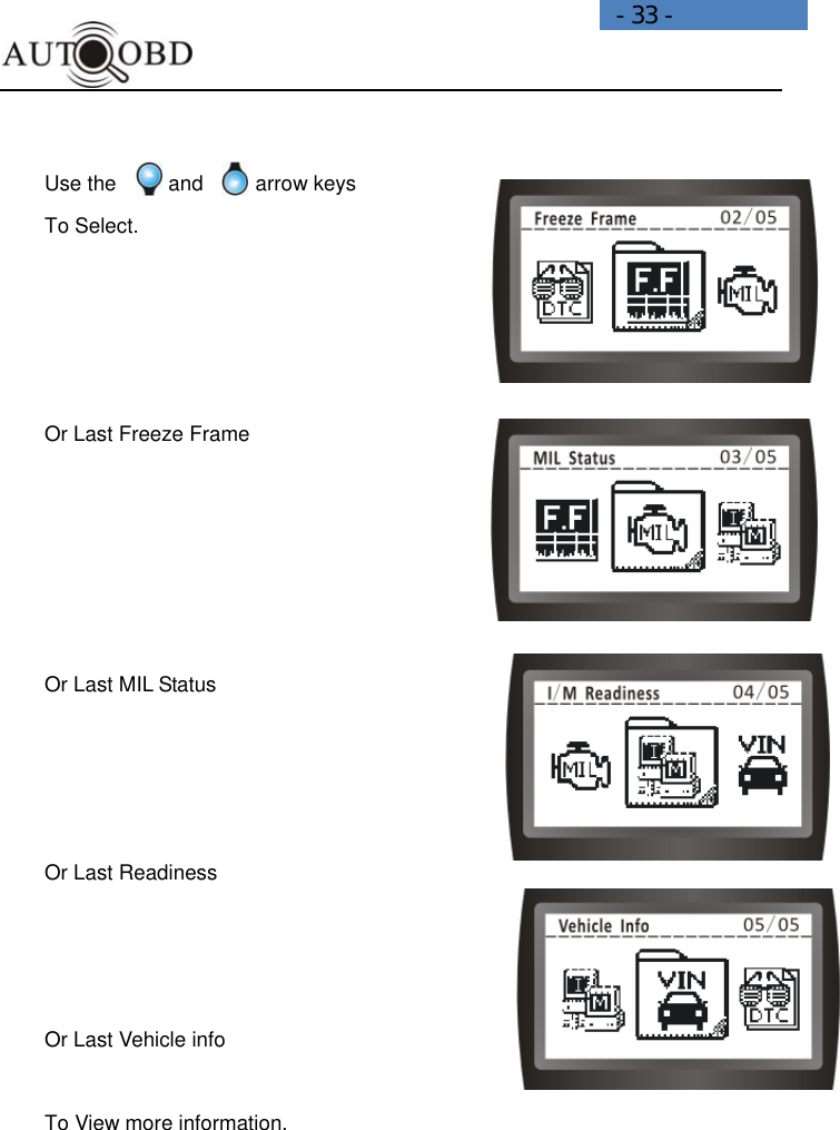 Daewoo Electronics Ad100 Users Manual SCAN DIY Tools