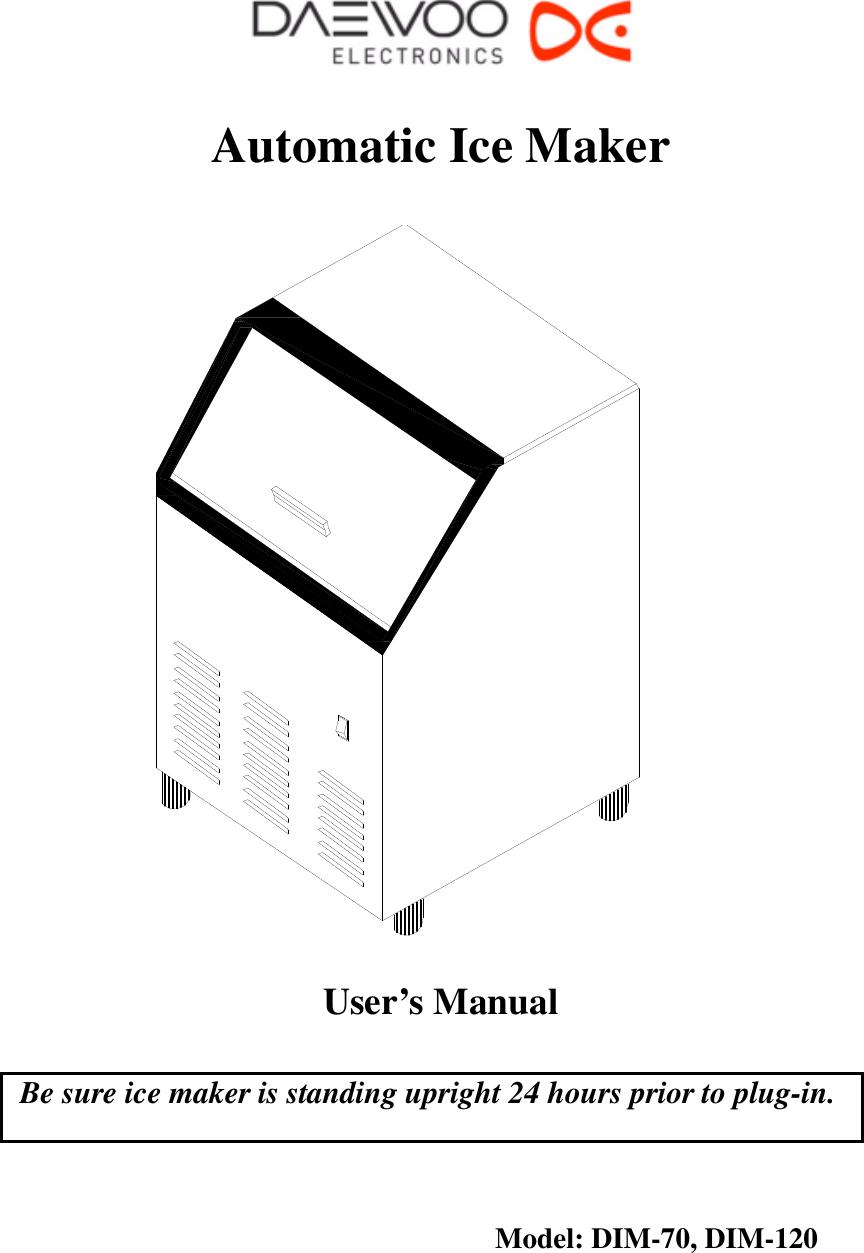 Daewoo Electronics Dim 120 Owner S Manual USERMANUAL_DIM70DIM120_ on