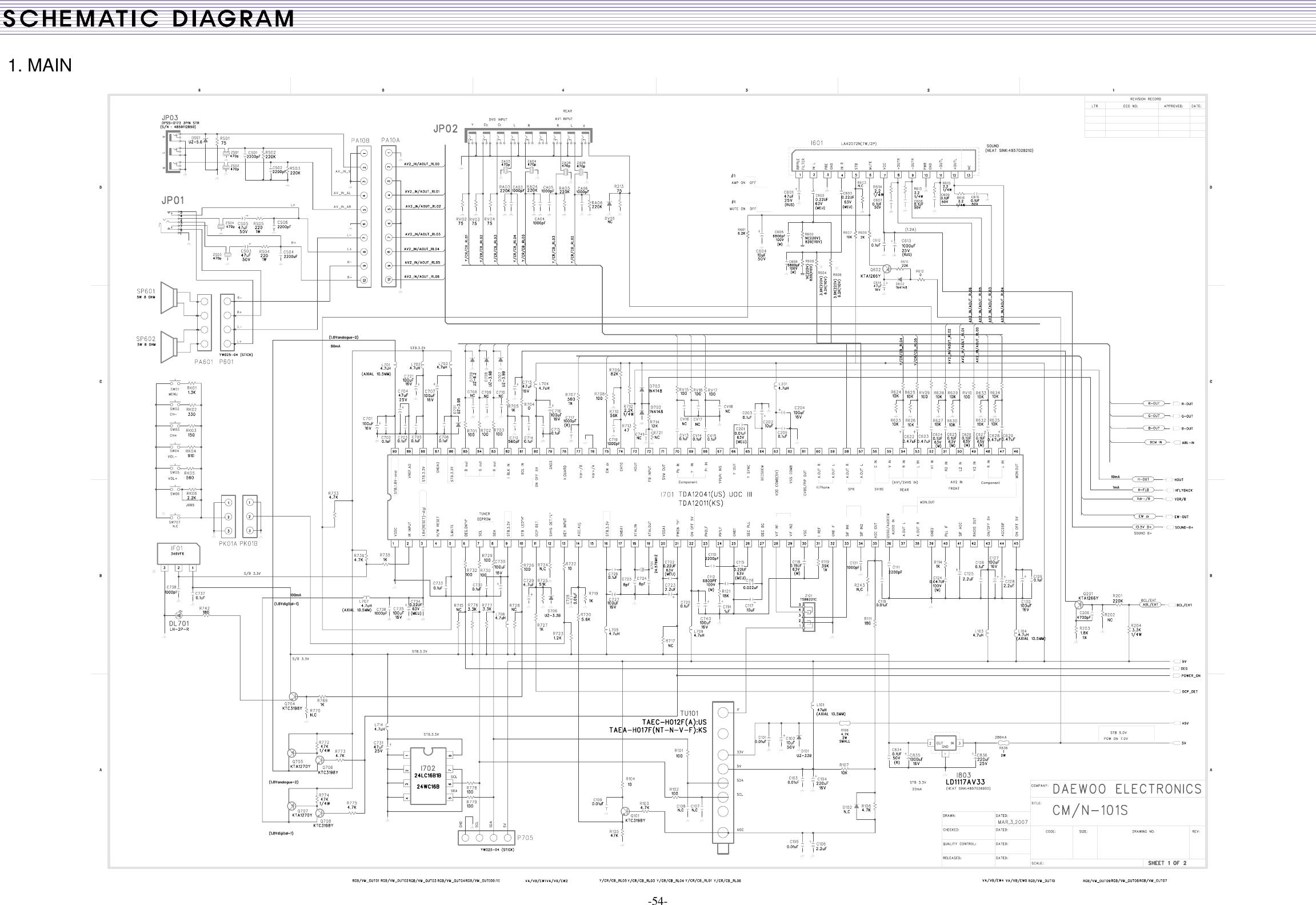 Daewoo Electronics Dth 21S7 Users Manual
