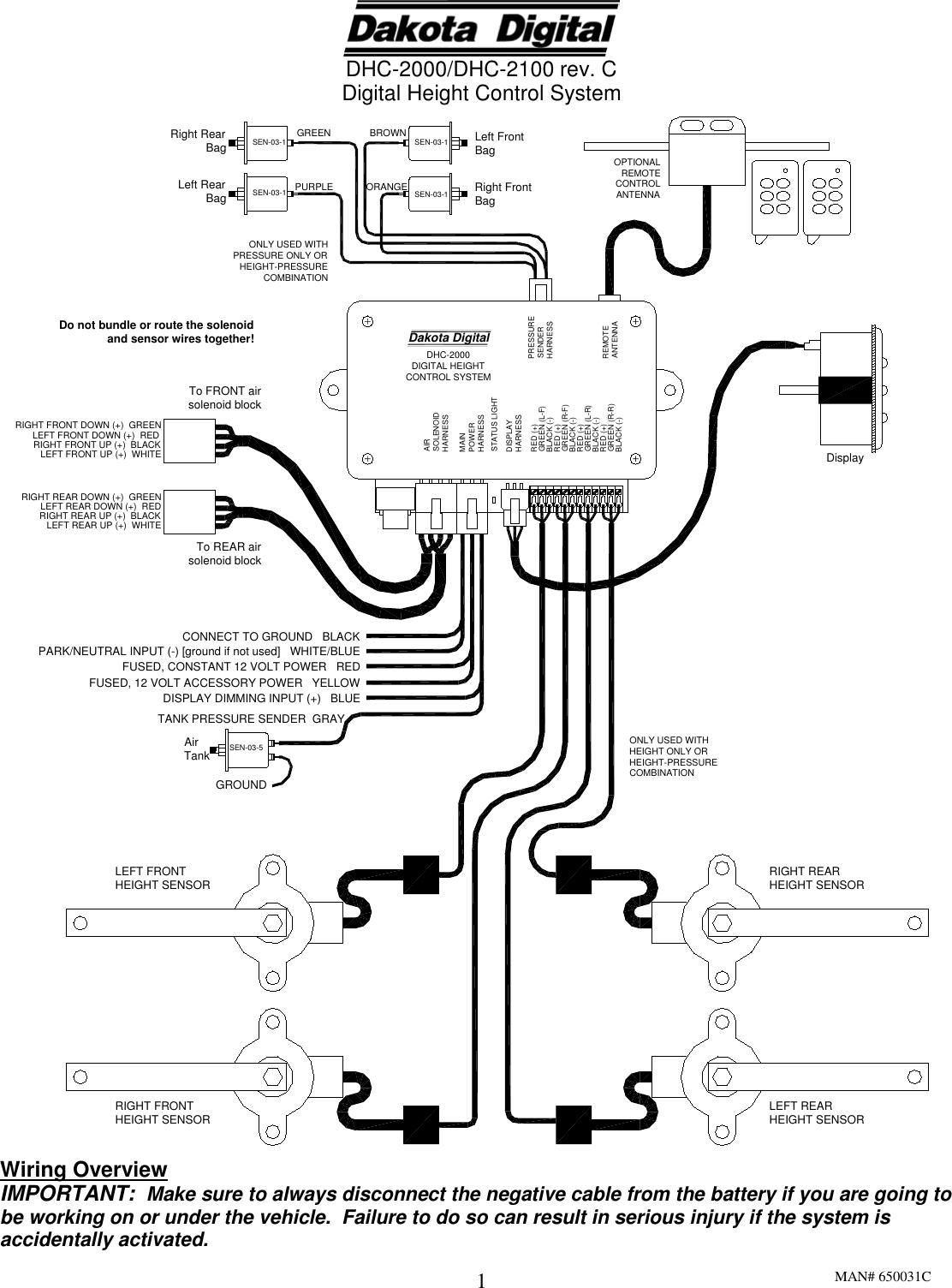 Dakota Digital Dhc 2000 Users Manual on