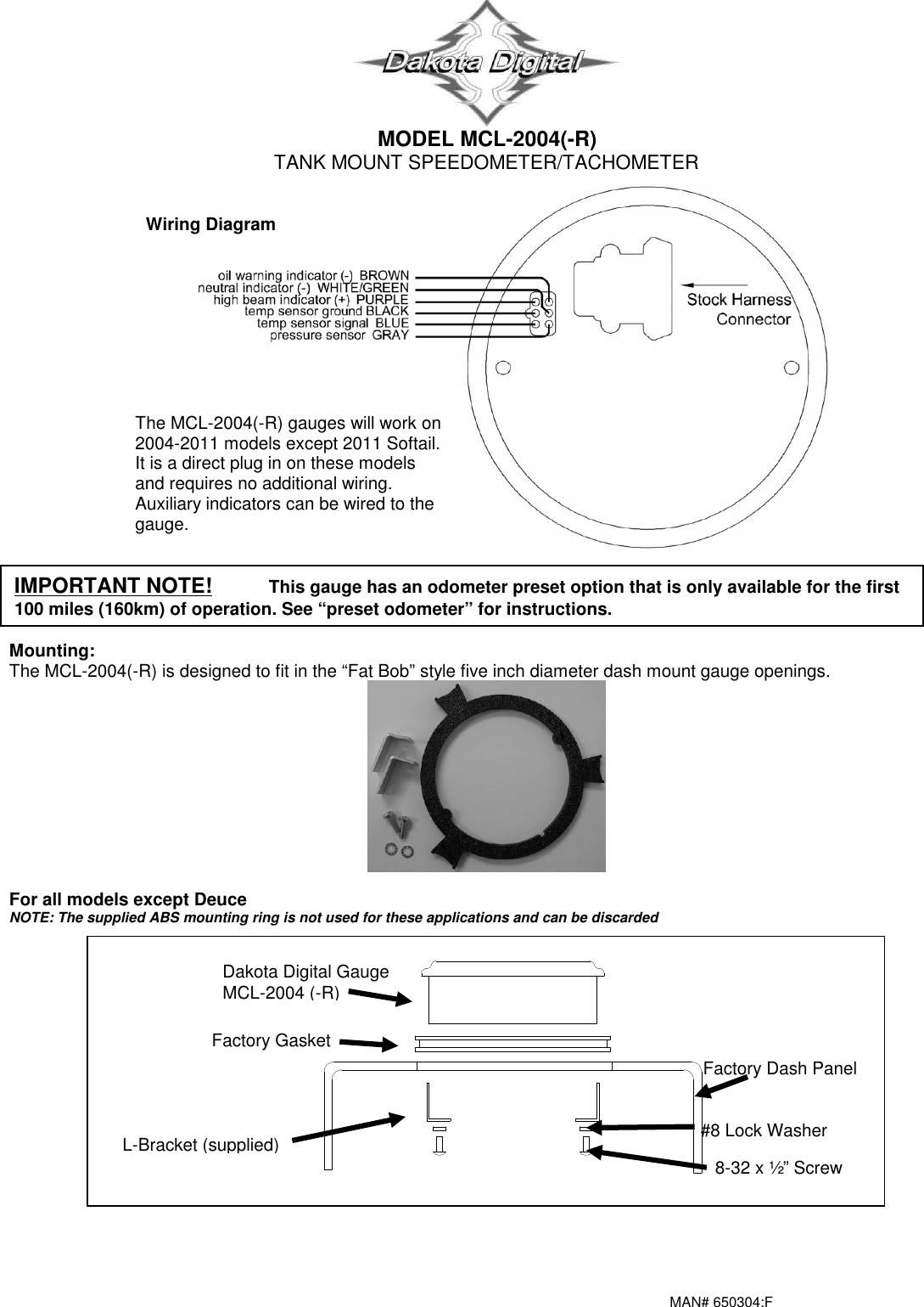 dakota digital motorcycle wiring diagram dakota digital mcl 2004 r users manual 650304f  dakota digital mcl 2004 r users manual