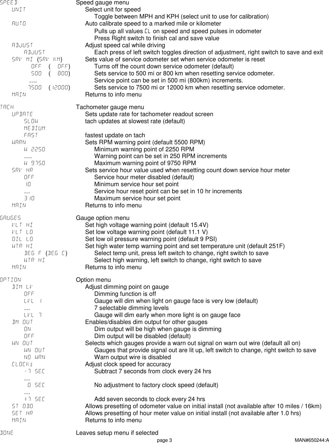 Page 3 of 6 - Dakota-Digital Dakota-Digital-Multi-Gauge-Utv-1200-Users-Manual-  Dakota-digital-multi-gauge-utv-1200-users-manual