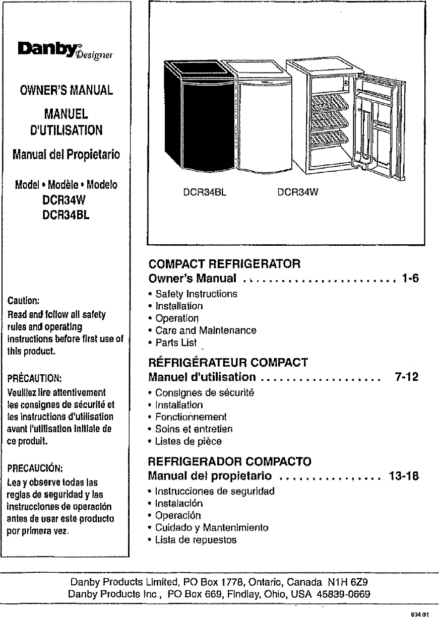 Frigidaire Lfph45f4lm Compact Refrigerator Parts Manual Guide