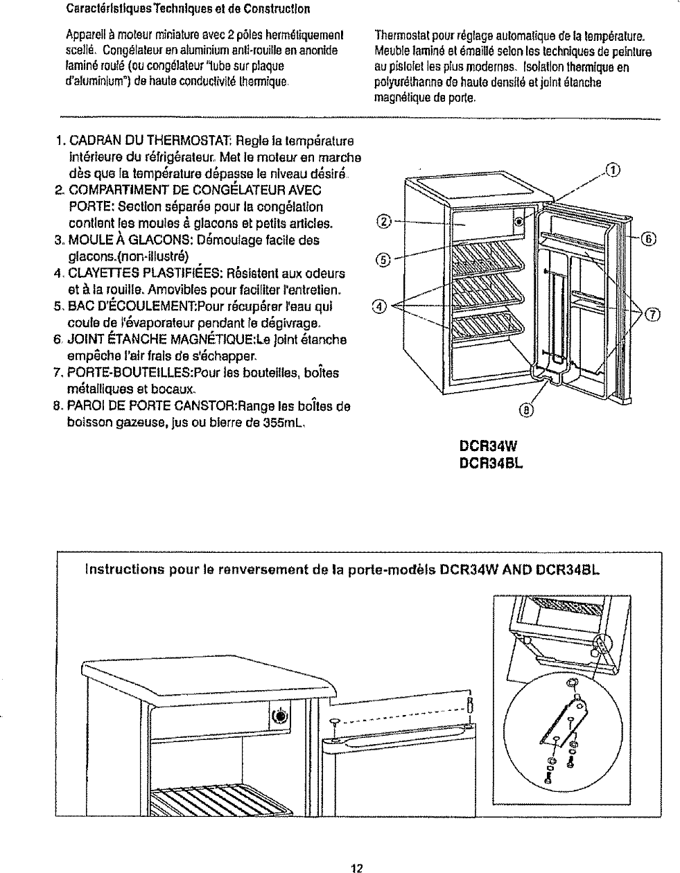 Danby DCR34BL User Manual REFRIGERATOR Manuals And Guides