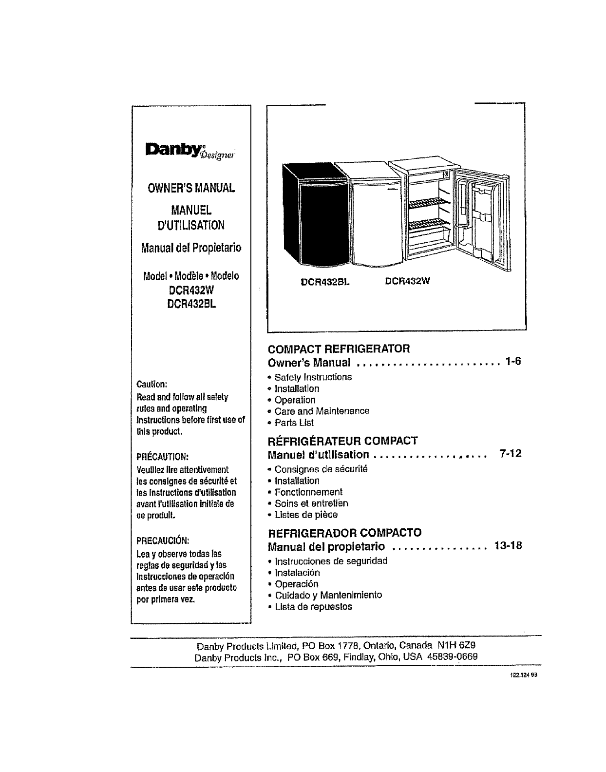 danby dcr432bl user manual refrigerator manuals and guides l0712263 rh usermanual wiki Appliance Gas Range Danby Homepage