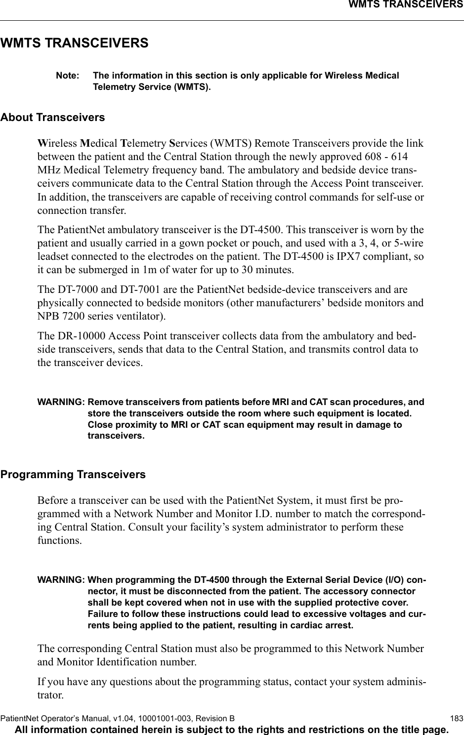 data critical 02dr 10110 wmts opennet lan user manual 20 10001001 003 b rh usermanual wiki Toshiba User Guide Manual Toshiba User Guide Manual