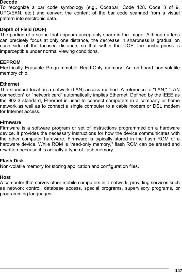 Datalogic S r l FX3P Portable Handheld Transmitter FalconX3+ User