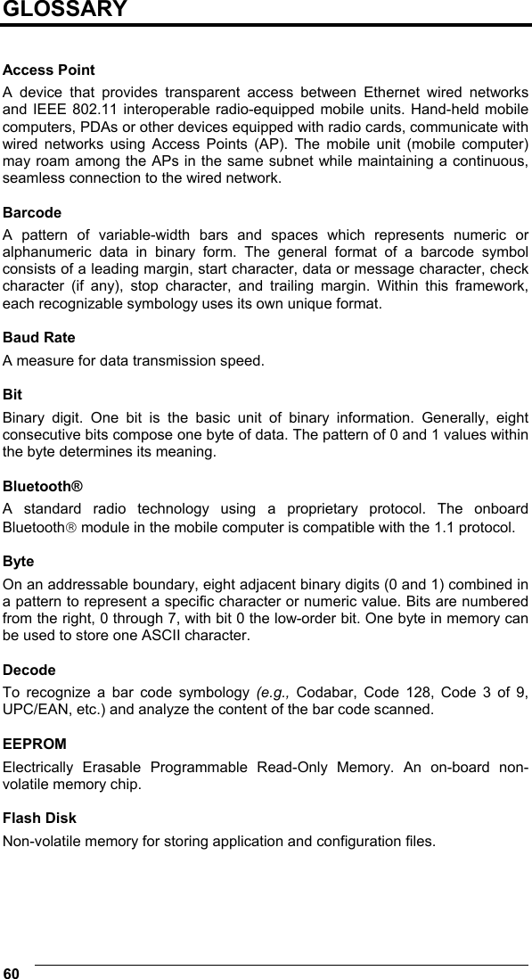 Datalogic Scanning Memor Users Manual 115x210