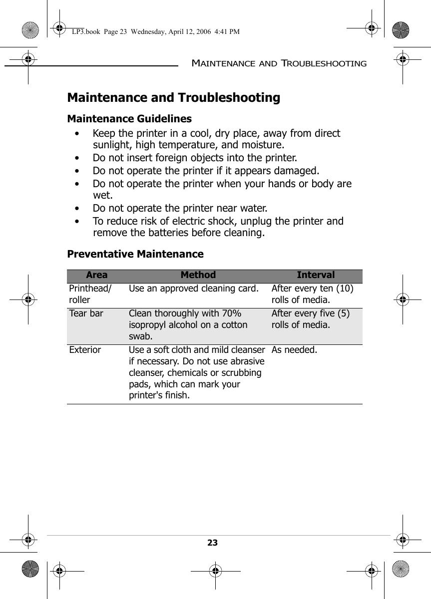 Datamax O Neil WL430220 Wireless Printer Module User Manual LP3