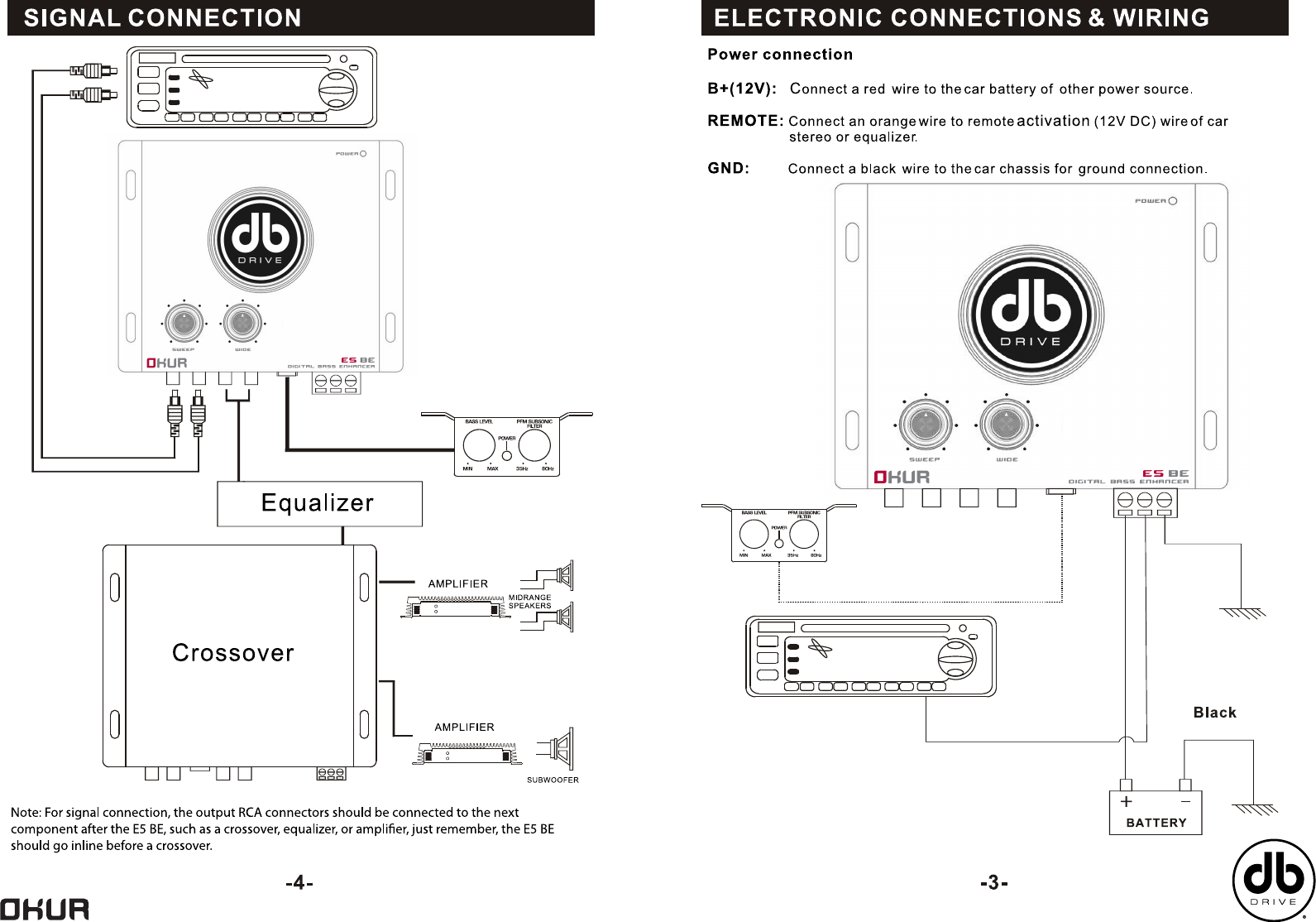 Db Drive Okur E5 Be Users Manual Rmb 11 Amp Wiring Diagram Page 4 Of