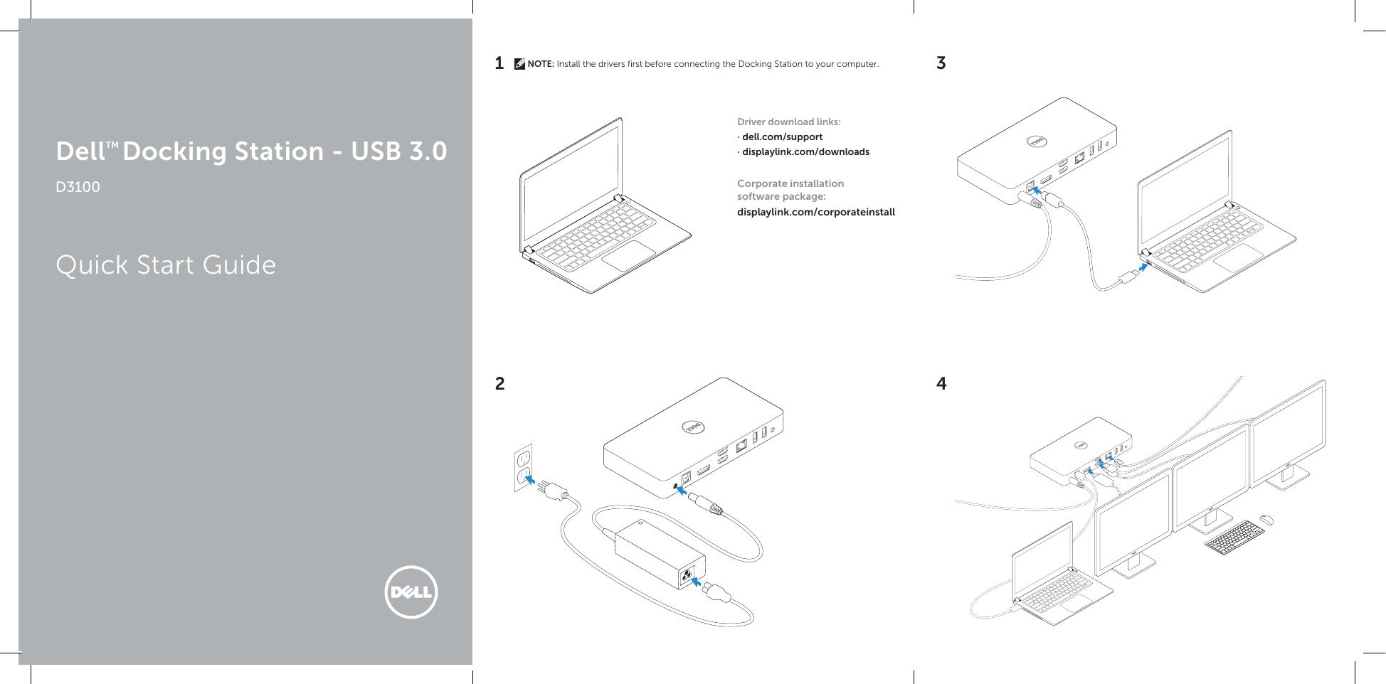Dell Model D3100 Docking Station Manual Manual Guide