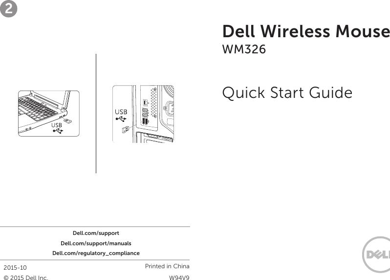 1109f801c76 Dell Wireless Mouse WM326 Quick Start Guide 1508044636dell Setup En us