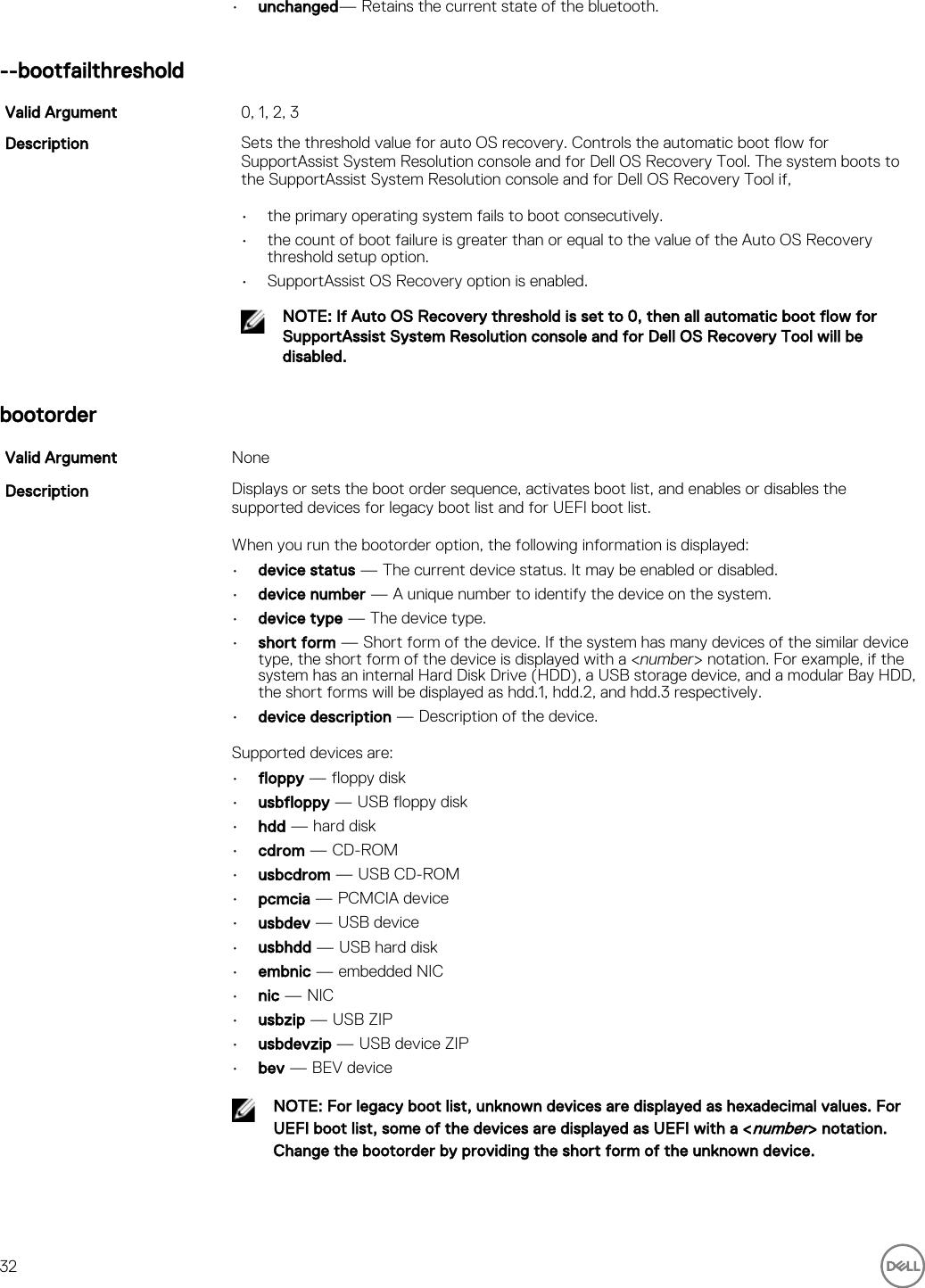 Dell Command | Configure Version 3 2 Line Interface