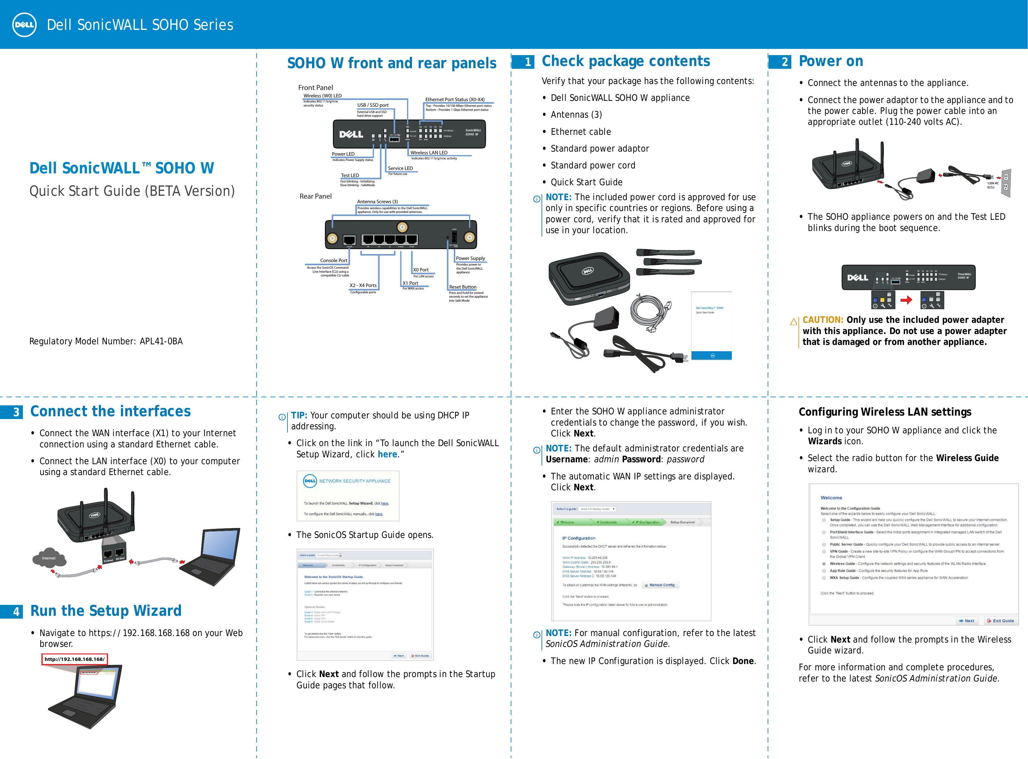 Dell APL410BA Wireless Network Security Appliance User Manual Dell