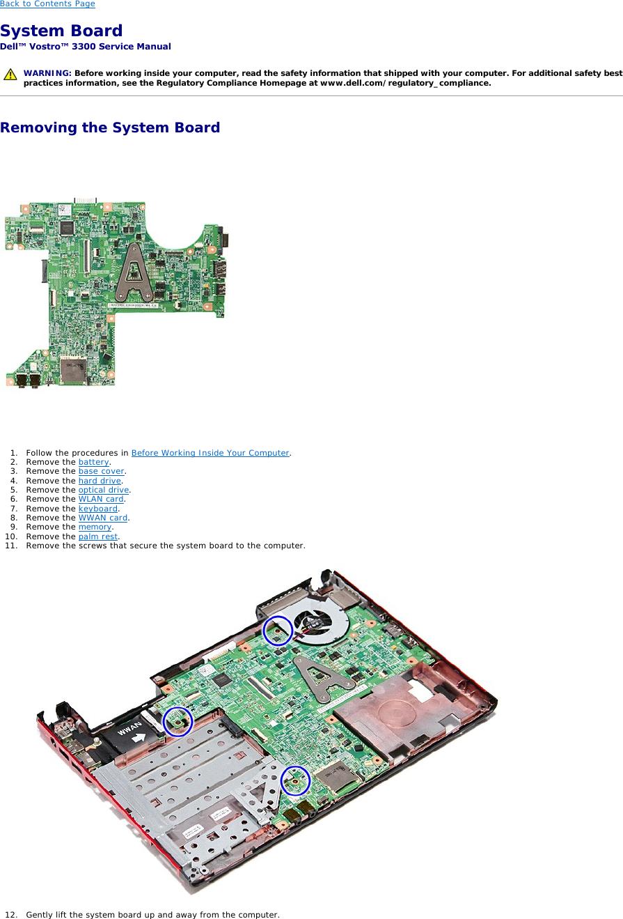 Dell 3300 Users Manual Vostro Service