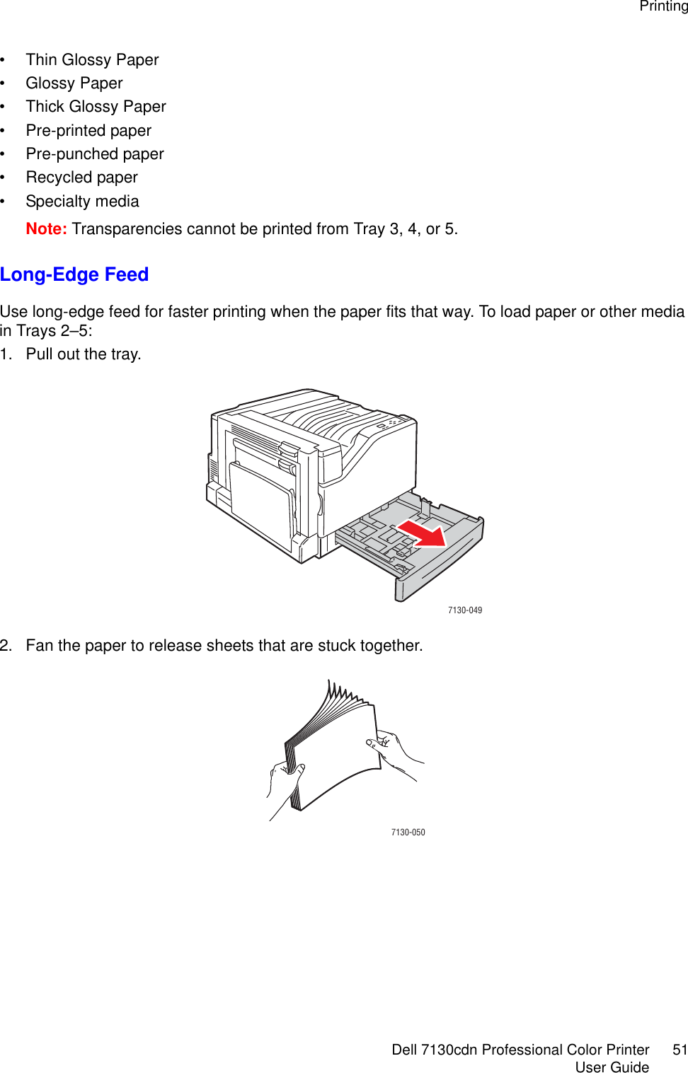 Dell 7130Cdn Color Laser Printer Users Manual User's Guide