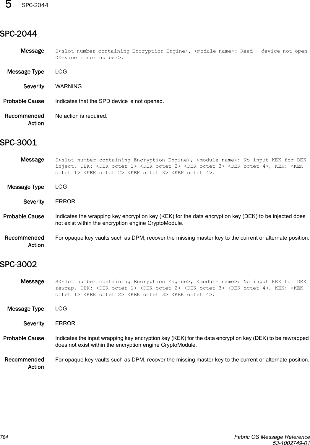 Dell Brocade 5300 Messages Reference Guide Fabric OS Message