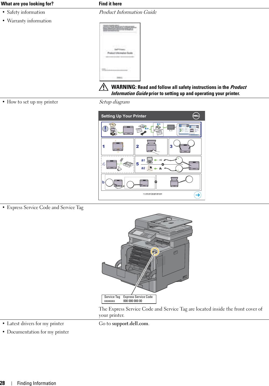 Dell C3765Dnf Color Laser Printer Users Manual User's Guide