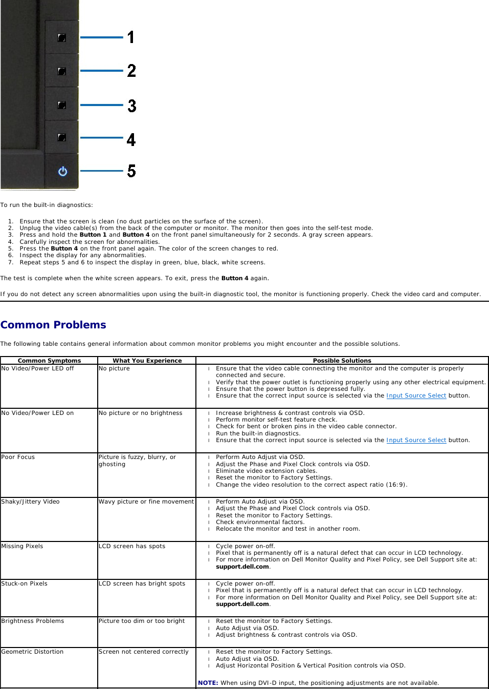 Dell Computer Monitor P2011H Users Manual User Guide Operating