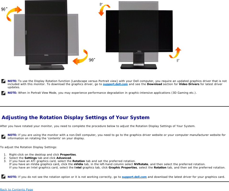 Dell Computer Monitor P2310Hf Users Manual P2310H User Guide