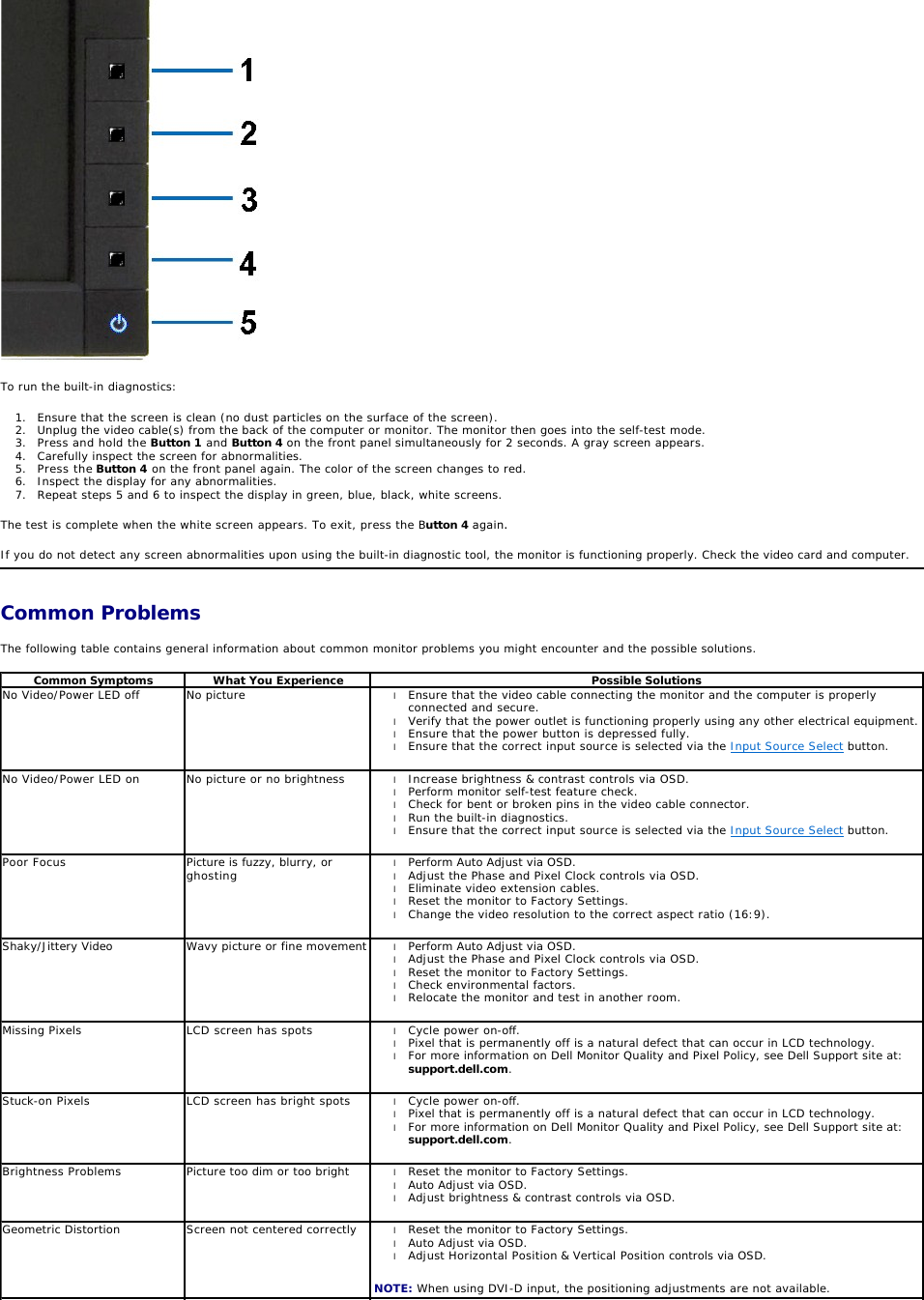 Dell Computer Monitor P2411H Users Manual User Guide