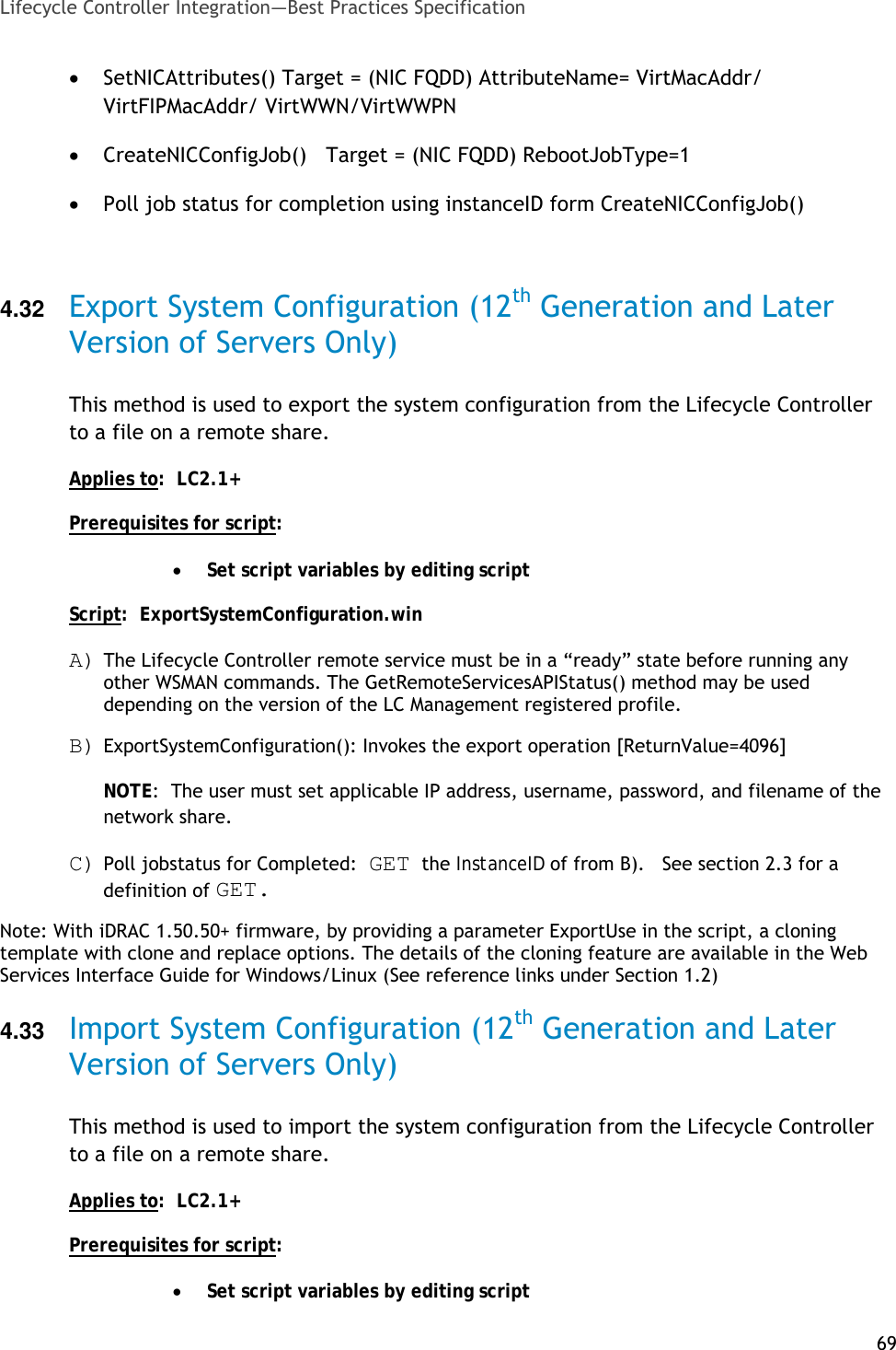 Dell Lifecycle Controller 2 Version 1 3 0 Practices Guide Best