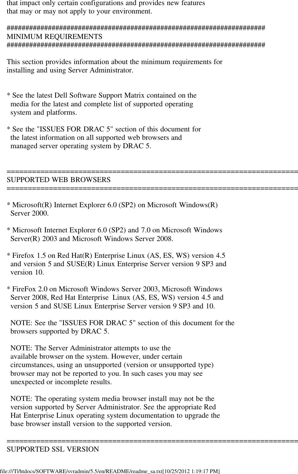 Dell Openmanage Server Administrator Version 5 Read Me 5 5