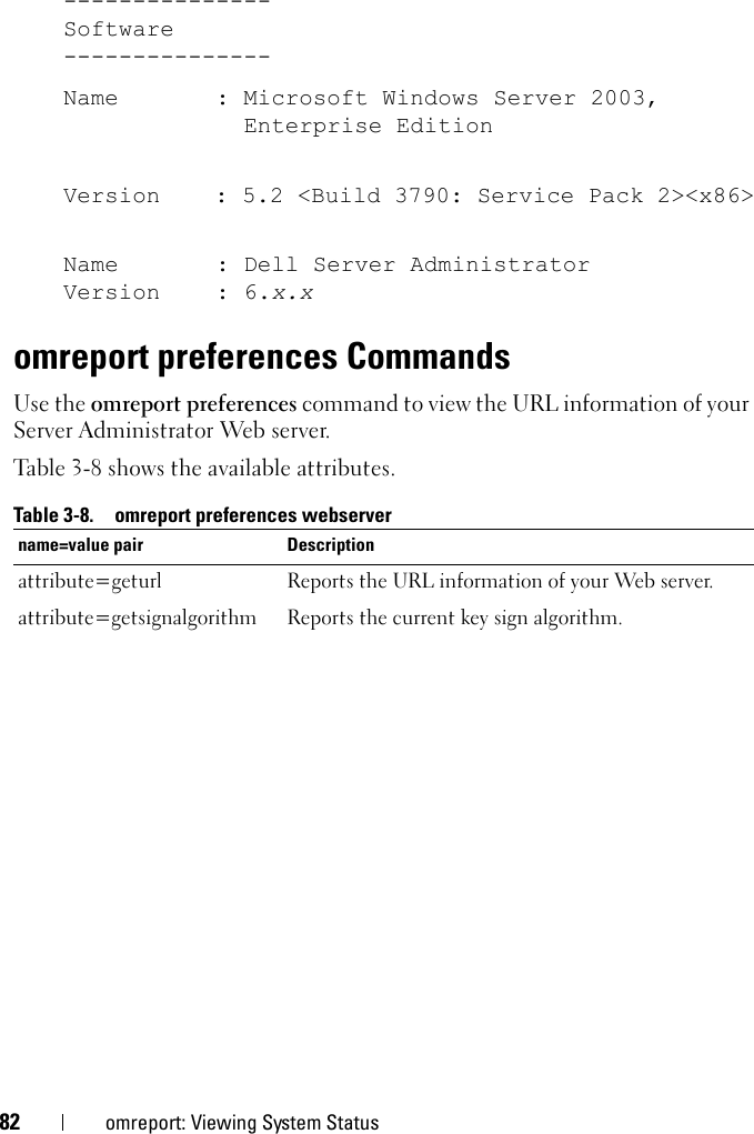 Dell Openmanage Server Administrator Version 6 5 Command Line