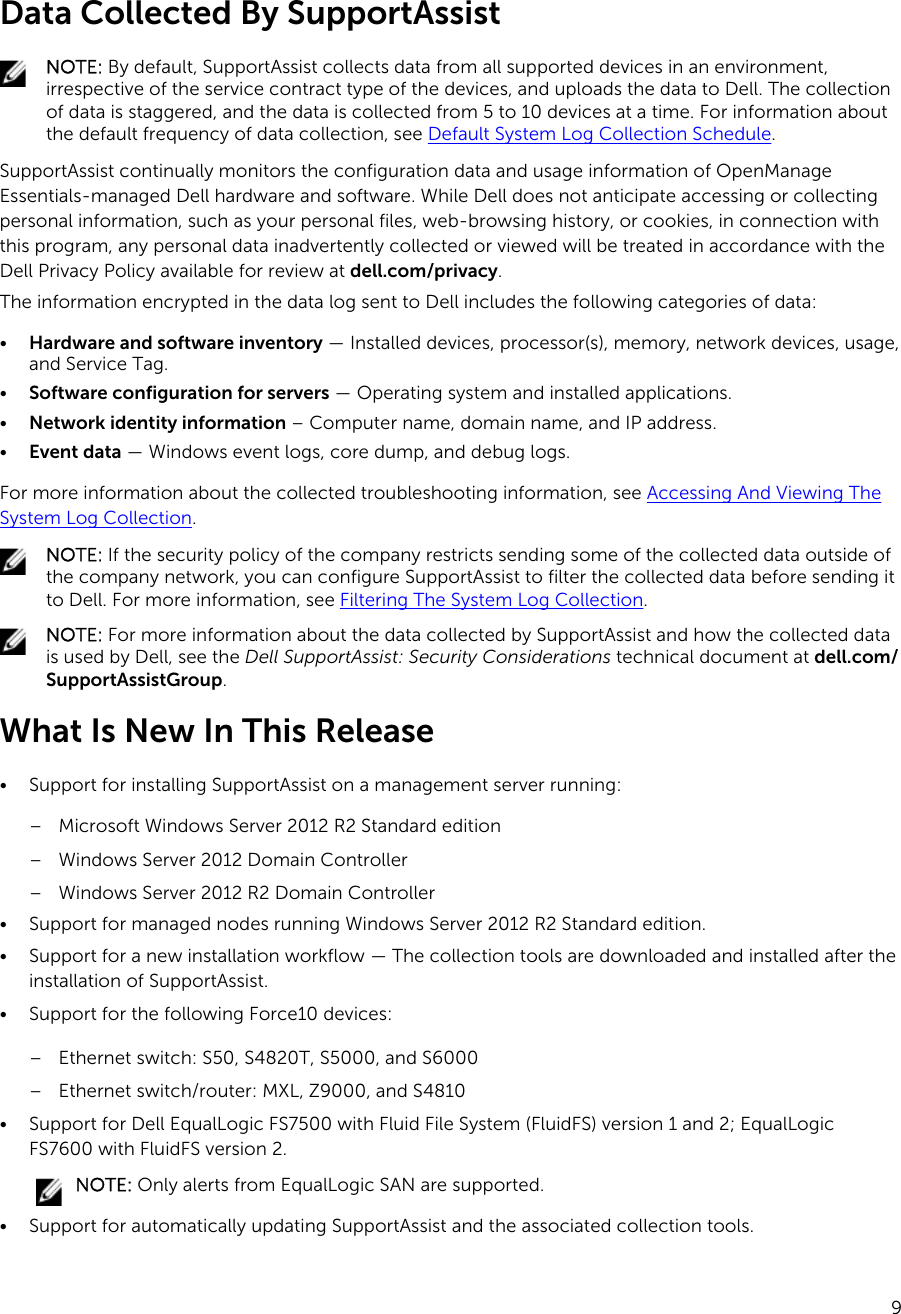 Dell Supportassist Version 1 3 For Openmanage Essentials Users