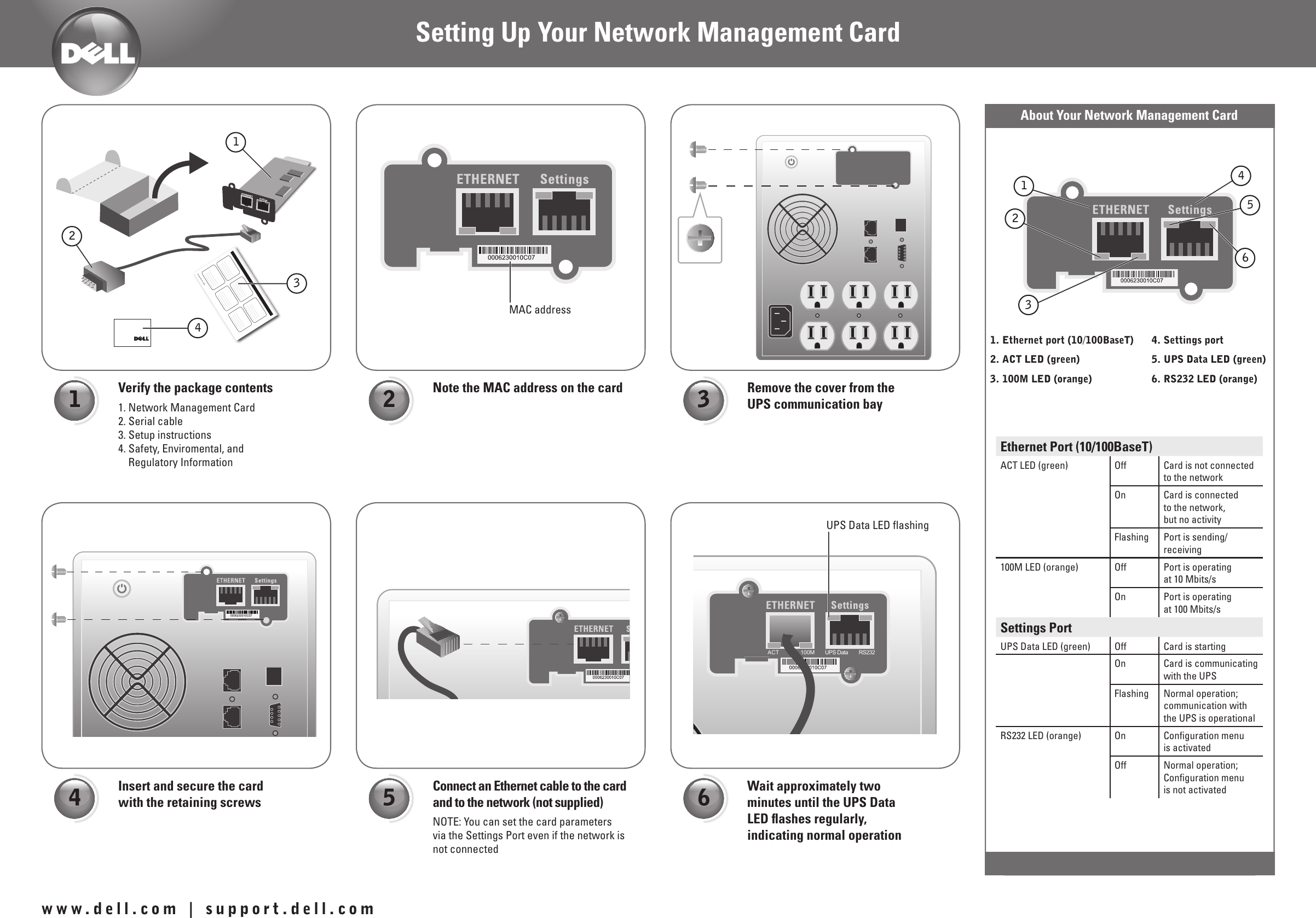 Dell Ups 1000R Setup Guide Setting Up Your Network