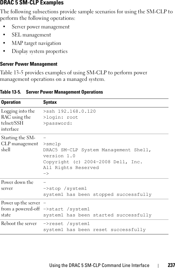 Dell Drac 5 Version 1 60 Owners Manual Remote Access